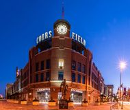 Free Classic Architecture Of A Modern Baseball Stadium. Royalty Free Stock Photography - 123533277