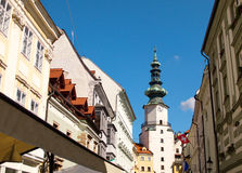 Classic architecture in Old Town Quarter in Bratislava, Slovakia Royalty Free Stock Image