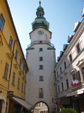 Classic architecture in Old Town Quarter in Bratislava, Slovakia Stock Photography