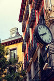 Classic Architecture in Postas Street, Madrid Royalty Free Stock Image