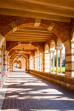 Classic Architecture Representing Higher Education. Entrance way to university classroom buildings representing advancement to higher education and educational Royalty Free Stock Images