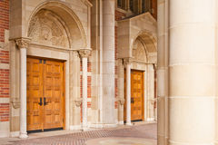 Classic Architecture Representing Higher Education. Entrance way to university classroom buildings representing advancement to higher education and educational Stock Photo