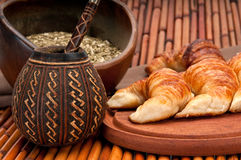The classic argetinian breakfast Royalty Free Stock Image