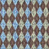 Classic argyle pattern in knitting style Stock Image