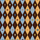 Classic argyle pattern in patchwork style Royalty Free Stock Photos