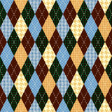 Classic argyle pattern in patchwork style Stock Photos