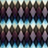 Classic argyle pattern with wavy shadow Stock Photo