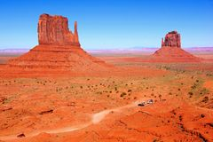 Classic Arizona desert view. Famous Wild West view over Monument Valley, Arizona, USA Stock Images
