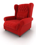 Classic Armchair. Retro-Styled chair on white Royalty Free Stock Image