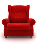 Classic Armchair. Retro-Styled chair on white Royalty Free Stock Images