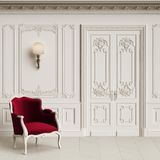 Classic armchair in classic interior with copy space royalty free stock photos