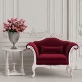 Classic armchair in classic interior interior mockup 3d illustration stock photo