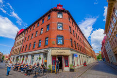 Classic arquitecture in downtown Gothenburg Stock Photos