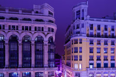 Classic Arquitecture in Madrid by Night Stock Images
