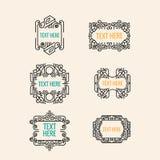 Classic art deco luxury minimal hipster geometric vintage vector monogram Royalty Free Stock Photos