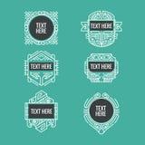 Classic art deco luxury minimal hipster geometric vintage vector monogram, frame , border, badge, label, crest, or Vintage Insigni. As, vector design elements vector illustration