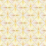 Abstract Gold Art Deco Seamless Background. Geometric Fish Scale Pattern. Classic Art Deco Seamless Pattern. Geometric Stylish Texture. Abstract Retro Vector Royalty Free Stock Photography