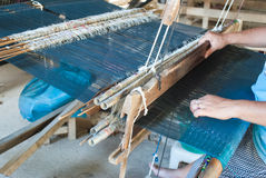 Classic asian loom at work Stock Photography