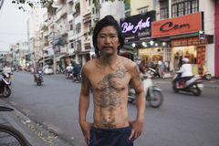 Classic asian tattoo Royalty Free Stock Photos