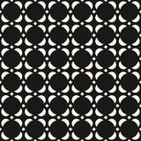 Classic asian traditional ornament. Elegant background. Vector abstract geometric seamless pattern. Black and white ornamental texture, floral motif, geometrical Stock Illustration