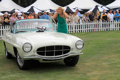 Classic aston martin db2/4 supersonic at concours Stock Images
