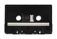 Classic audio cassette. On white background royalty free stock photography