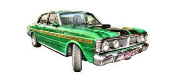 Classic Australian 1970s Ford Falcon 351GT Royalty Free Stock Photography