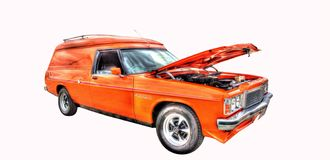 Classic Australian 1970s Holden Sandman isolated on a white background Royalty Free Stock Images