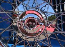 Classic Automobile Chrome Wire Wheel Royalty Free Stock Photos