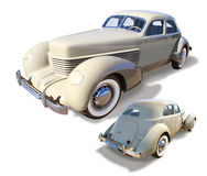 Classic Automobile, Cord- isolated Royalty Free Stock Photo