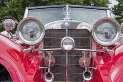 Classic automobile frontal view Stock Photo