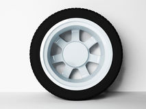 Classic automobile wheel Royalty Free Stock Images