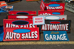 Classic Automotive Signs Stock Photography