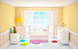 Classic baby room beige Stock Image
