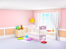 Classic baby room pink Stock Photography