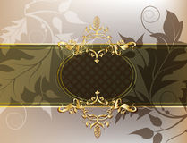 Classic background. Classic floral shining horizontal background Stock Photography