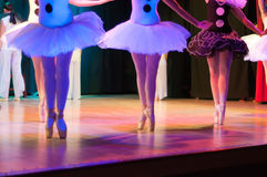 Classic ballet dancers. Display of a Classic Ballet, dancers legs and shoes details Stock Photography