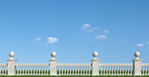 Classic balustrade on grass Stock Images