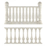 Classic balustrade isolated Royalty Free Stock Photo