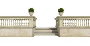 Classic balustrade on white Stock Image