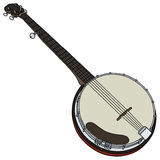 Classic banjo Royalty Free Stock Images