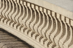 Classic bannister. Close up detail with depth of field of Classic bannister royalty free stock photography