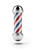Classic Barber shop pole. Isolated on a white background Stock Images