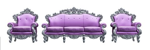 Classic Baroque armchair Royalty Free Stock Photo