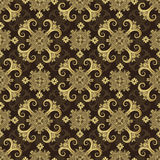 Classic Baroque Seamless Background Pattern Stock Image