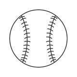 Classic baseball icon Royalty Free Stock Images