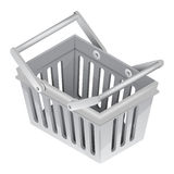 Classic basket in isometric view isolated Royalty Free Stock Image