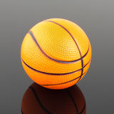 Classic basketball with reflection Royalty Free Stock Photography