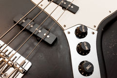 Classic bass guitar body close up Royalty Free Stock Image