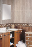 Classic bathroom detail with ceramic tiles Royalty Free Stock Photography